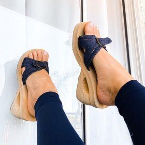 Skechers Y2K bratz doll denim chunky sandals